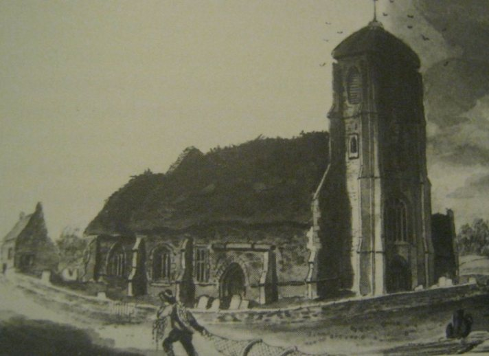 Cowbit Church in 1820 (from South Holland Life)