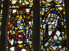 Gedney Church, north aisle glass