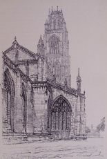 Boston Church from the N.E,, Frederick L. Griggs, 1914