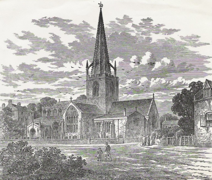 Gosberton Church by William Burgess,  From Twelve views of churches in Lincolnshire and Cambridgeshire; drawn and engraved by W. and H. Burgess, Fleet 1800-1805